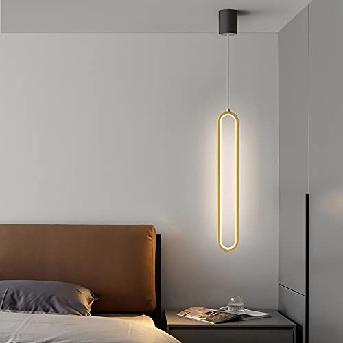 HIL Moda LED Lámpara De Noche Sencillez Arte Plafón De Hierro Forjado Luz De Tres Tonos Moda Araña De Bar Lámparas De Diseño Para Cuarto Sala De Estar Tienda Araña De Decoración De Interiores,Oro