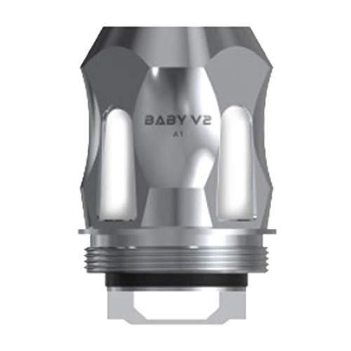 3 Stück Original SMOK TFV8 Baby V2 Baby Replacement Coils for SMOK TFV8 Baby V2 Verdampfer Atomizer Tank (1 Packung A1-Rostfreier Stahl 0.17Ω)