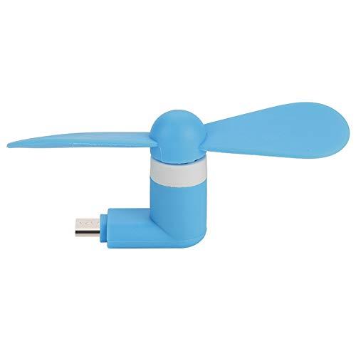 Sora Ventilador de Mano, Ventilador de microvelocidad Extremadamente silencioso de 5 V, bajo Consumo de energía Ventilador Personal de 1 W, Beneficios(Blue)
