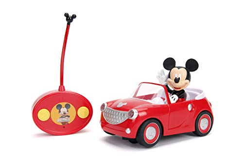 Jada Toys Disney Junior Mickey Mouse Clubhouse Roadster RC Car, 7' Red