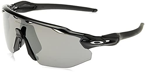 Oakley Men's OO9442 Radar EV Advancer Rectangular Sunglasses, Polished Black/Prizm Black Polarized, 38 mm