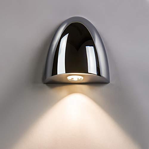 Orphée Rondelle Applique murale 1 lumière Finition?: Chrome