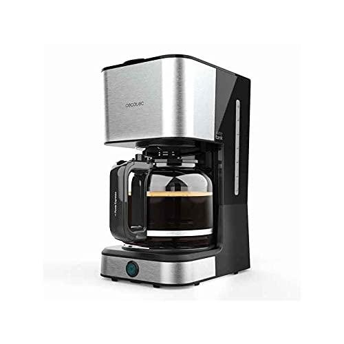 Cecotec Cafetera de Goteo Coffee 66 Heat. 950 W, Tecnología ExtemeAroma, Función Recalentar y Mantener, Jarra Termoresistente de 1,5L, Autoapagado, Acabado en Acero Inoxidable