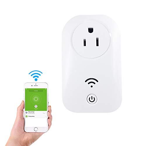 YJLL Intelligent WLAN-stopcontact, compatibel met Alexa Wireless WiFi, heeft geen stroomcircuit nodig om je apparaten overal te bedienen.