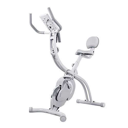 WGFGXQ Bicicleta estática Plegable para el hogar Bicicleta de Ciclismo Interior giratoria magnética, silenciosa, Bicicleta estática con Monitor LCD Entrenador para el hogar