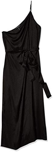 BCBGMAXAZRIA Women s Dotted Satin Cocktail Dress Black LG US 10 12 product image