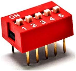 100pcs lot 5 Position DIP Dedication Switch 2 Row 10 trend rank Pin Pitch 2.54mm 5P Sl