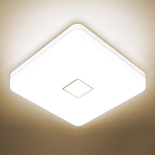Onforu 24W Plafonnier Salle de Bains, Étanche LED Plafonnier Carré Moderne, 2100LM Lampe de Plafond 4000K Blanc Neutre, Luminaire Plafonnier IP54 Imperméable pour Cuisine, Salon, Chambre, Balcon