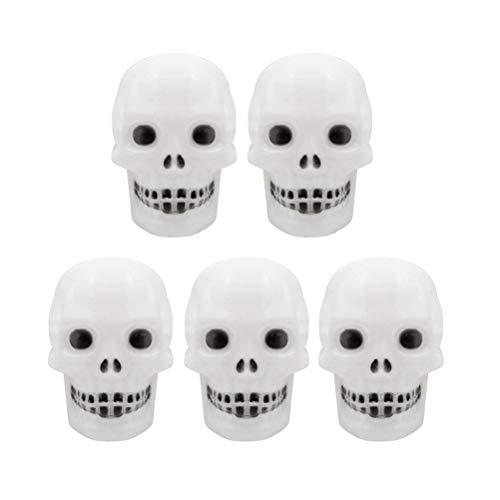 Amosfun 5 unids Halloween LLEVÓ la Lámpara de Esqueleto Colorida Luz de Cráneo Lámpara de Esqueleto Luz de La Noche Skull Flash Ghost Glow Light para Halloween Decoraciones del Partido
