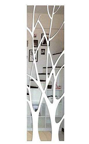 I3C Adhesivo decorativo para pared con espejo de árbol en 3D, extraíble, para decoración del hogar, acrílico