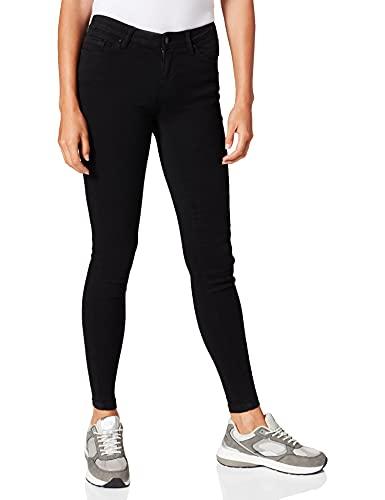 Springfield Jeans Jegging Lavado Sostenible Pantalones, Negro, 40