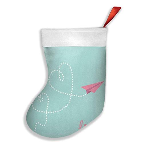 tyui7 Origami Paper Plane Fashion Calcetines únicos de Navidad Calcetines de Regalo Personalizados Calcetines de Caramelo, Decoración de Fiesta de Navidad