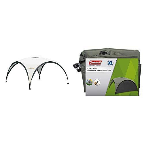 COLEMAN Toldo Zelt Event Shelter, Gris-Verde, XL + Coleman Parasol para carpa de eventos, color gris y verde, 15 x 15 pies (4.57 x 4.57 m)