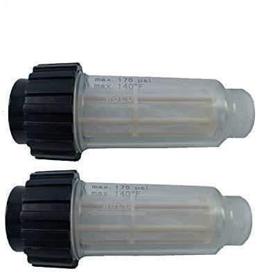 2X Filtro de Agua Que Incluye Inserto de Filtro (5.731-050.0) para Todas Las lavadoras a presión Karcher con conexión de Agua de 3/4 de Pulgada como Karcher K2-K7 Compatible con 4.730-059.0