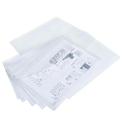 Rapesco carpetas sobres – A3 Transparente, paquete de 20