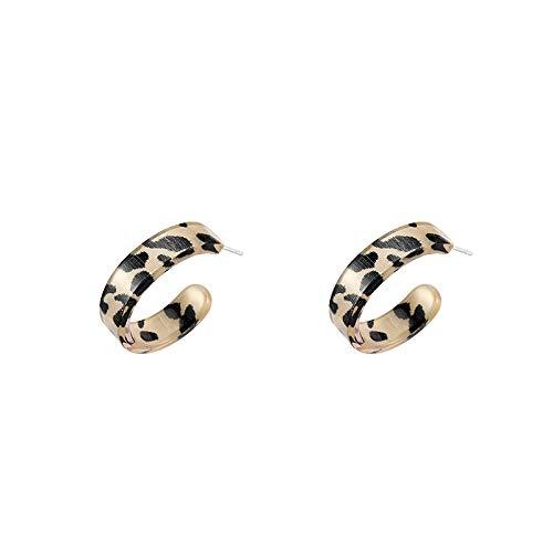 Xi-Link Pendientes De Leopardo, Nuevos Pendientes, Temperamento, Pinza De Oreja De Alto Nivel (Color : Eara Clip)