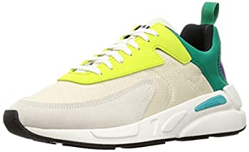 Diesel Men s S-Serendipity Low Cut Sneakers Seedpearl/Pepper Green/Lime Punch 7