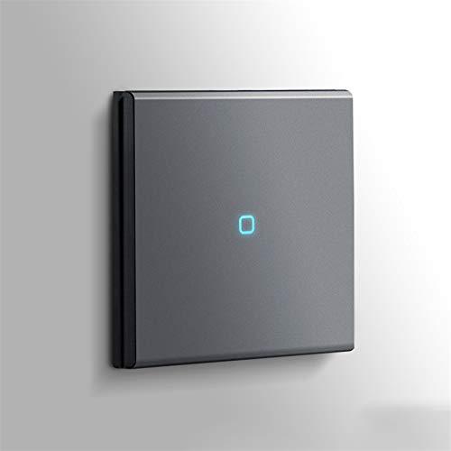 Foicags Interruptor oculto, interruptor de llave de panel mate gris nórdico retro retro-reinicio del interruptor de la llave, el hogar del interruptor de la pared del interruptor de la pared del inter