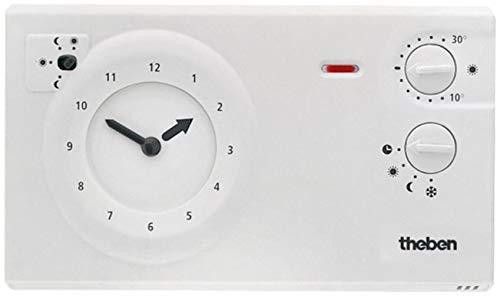 Theben 7220030 RAM 722 (RAMSES) - analoges Uhrenthermostat mit Tages- und Wochenprogramm, Raumtemperaturregler, Raumregler, Thermostat