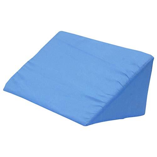 Supvox Almohada de cuña de la cama Almohada de cuña de reflujo ácido para dormir Descanso o elevación (Azul)
