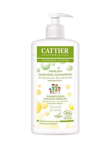 Cattier Duschgel & Shampoo, Grapefruit, für die ganze Familie, zertifizierte Naturkosmetik, 500 ml