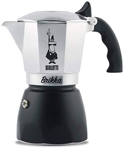 Bialetti 6184 0006184 Espressokocher 4 Tassen, Aluminium, silber