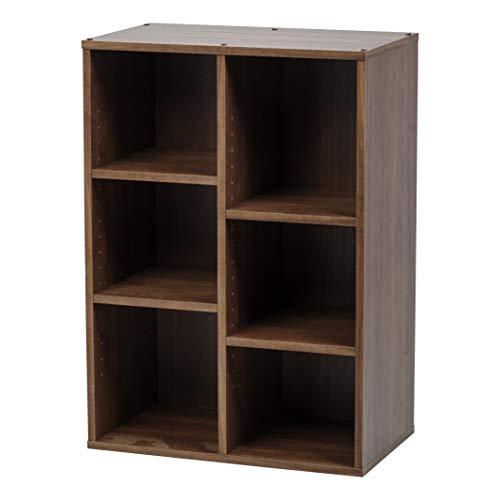 Marca Amazon - Movian CFR-9060 - Estante de almacenamiento para 6 cubos (MDF, madera de madera, color marrón roble)