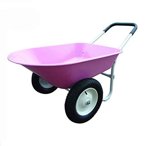 Garten Kipper - 2 Reifen Schubkarre Garten Wagen -Purple