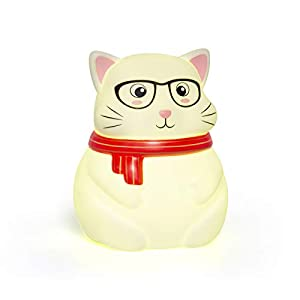 Cute Kitty Night Lights for Kids Soft Cat Lights for Toddler Baby Newborn Rechargeable Touch Animal LED Lamps for Nursery Breastfeeding Perfect Girls Boys Easter Gifts Cool Children Bedrooms Decor
