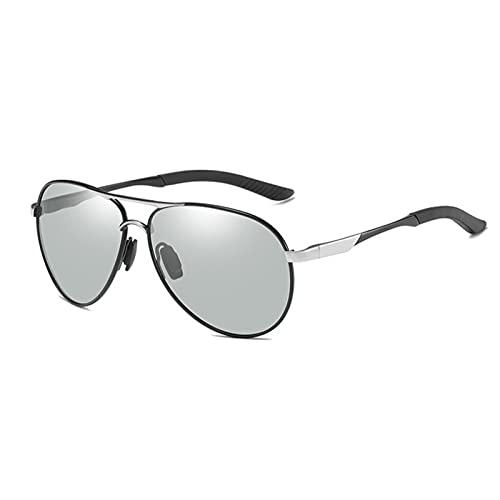 Gafas de sol Piloto para hombres Mujeres polarizadas Vidrios fotocromáticos de conducción Goggle Unisex Eyewear Chameleon UV400 Zonnebril Dames Gafas de sol polarizadas Hombres frescos para mujer depo