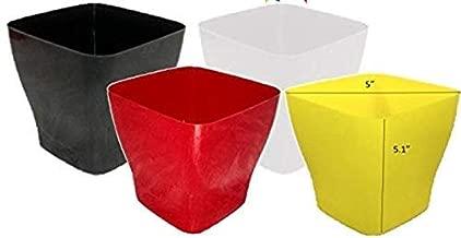 Khoji Onyx Square Flower Pot (Multicolour, 783) - Set of 4