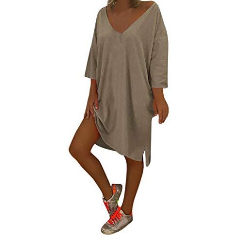 NPRADLA Sommer Kleider Damen V Ausschnitt Feminino Vesti Kaftan Boho Strand Cover Plus Size Baggy Kleid