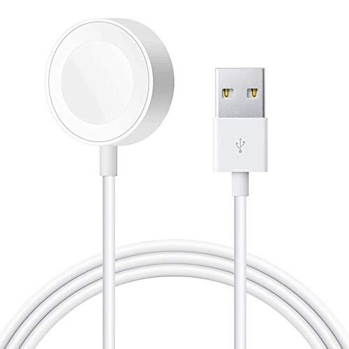 【2020年秋モデル】AMOVO iWatch 用 充電ケーブル マグネット式 置くだけ 急速充電 iwatch Series SE/6/5/4/3/2/1に対応 長さ1m ワイヤレス 磁気 USB充電ケーブル (1本)