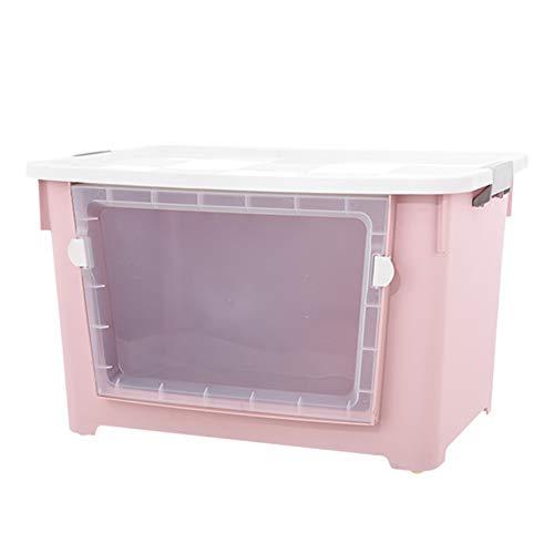 QARYYQ grote stapel- en trui top boxen wasmand (kleur: roze, maat: 100l)
