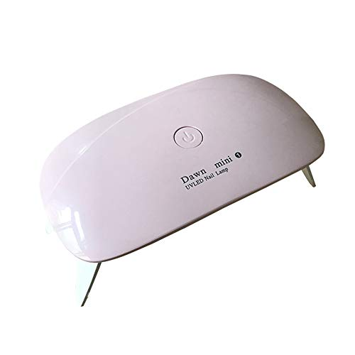 Anself, draagbare mini-nageldroger, 5 W, led-uv-lamp voor nagels, USB-opladen, 45s/60s timer roze