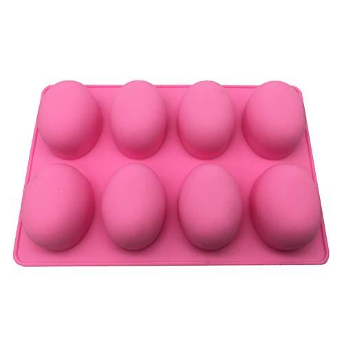 BESTONZON 8 cavités forme de boule ovale moule en silicone œufs de Pâques mousse gâteau moule en silicone dessert chocolat crème glacée moule