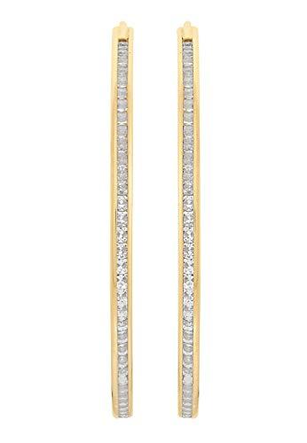 CHRIST Gold Damen-Creole 375er Gelbgold Zirkonia One Size 86994658