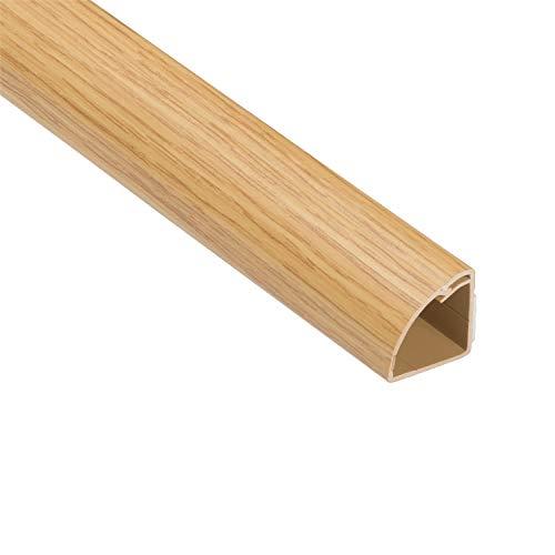 D-Line 1M22QSF1 Viertelrunde Kabelkanäle Beliebte Alternative zu herkömmlichen Bodenverkleidungen | 1 x 1 Meter Länge-Heller Eichen-Effekt, 1 Length