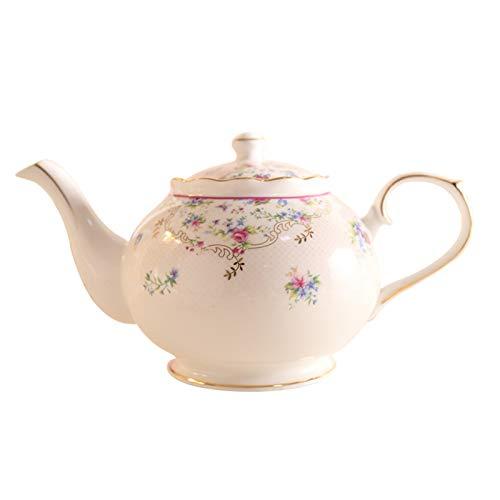 Tetera Avanzada la tetera de porcelana de hueso 1000ml de alta calidad cerámica Cafetera europea elegante té de la manera Hervidor Porcelana Vaso lunes cibernético (Color : B)