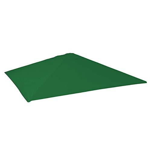 Mendler Bezug für Gastronomie Sonnenschirm HWC-D20, Sonnenschirmbezug Ersatzbezug, 5x5m (Ø7,2m) Polyester - dunkelgrün