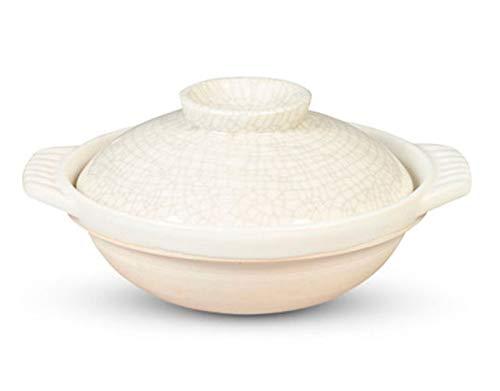 Hinomaru Collection Japanische Sumi Kannyu Donabe-Keramik-Kasserolle Banko Steingut Tontopf für Shabu Shabu hergestellt in Japan (32,5 cm Durchmesser 2661 ml)
