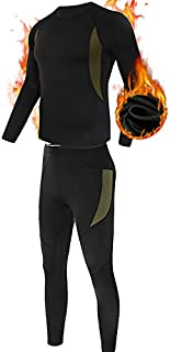Men's Thermal Underwear Set, ESDY Sport Long Johns Base Layer for Male, Winter Gear Compression Suits for Skiing Running