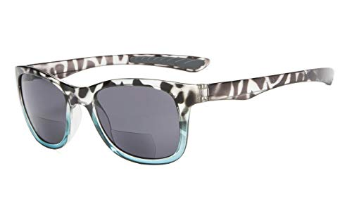 Eyekepper Klassisch 80 Jahrgang Bifokale Sonnenbrille Leser +1.50 Stärke die Sonnenbrille liest (Blau-Schildkröte)