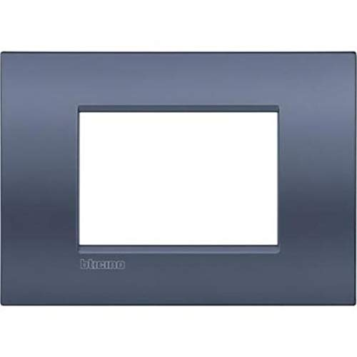 BTicino LNC4803BM Placca Livinglight Air 3 Moduli, Blu