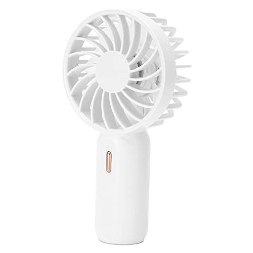 Emoshayoga Ventilador de Mano portátil USB Recargable Ventilador pequeño de Viento Mejorado con Fuerte Ahorro de energía eólica para Viajes de Estudio de Oficina(Blanco)