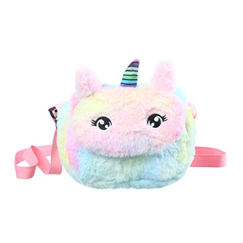LOKKSI - Bolsas pequeñas de unicornio para niñas de 11 años, diseño de unicornio, Pink (Rosa) - HS-LBBP-0015