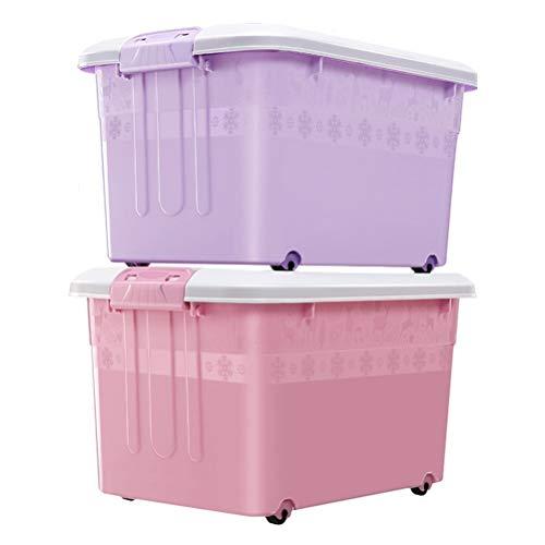 AQSG Boîte de Rangement, Multicolore, Plastique avec boîte à loquet pour Organisateur de conteneur