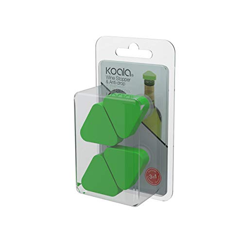 Koala Tapón para Botellas y dosificador antigoteo, Polietileno, Verde