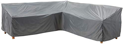 """KATEIHOME Patio Furniture Sectional Couch Covers Durable Premium Outdoor Waterproof V Shaped 100"""" L x 33.5"""" D x 31"""" H All Weather Protection Water Resistant Helpful Air Vent Grey"""