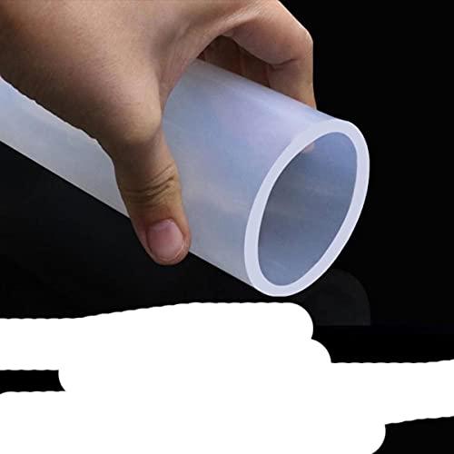 Manguera de caucho de silicona transparente de grado alimenticio de 3/5 M OD 1 2 3 4 5 6 7 8 9 10 11 12 14 16 18 25 32 Tubo de silicona transparente flexible de 50 mm-3m, 16x20mm